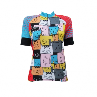 CAMISA CICLISMO FIT CATS